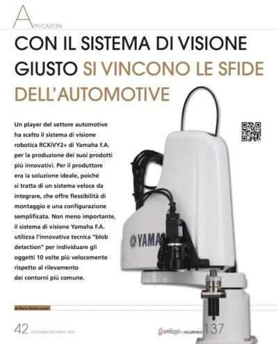 sistema visione yamaha settore automotive